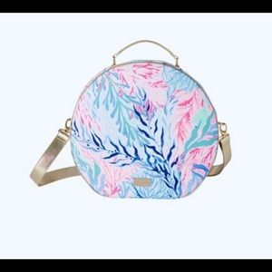 Lilly Pulitzer round duffel bag, luggage carry on